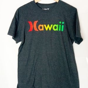 Hurley Hawaii Unisex Tee Islands on Back Shoulder